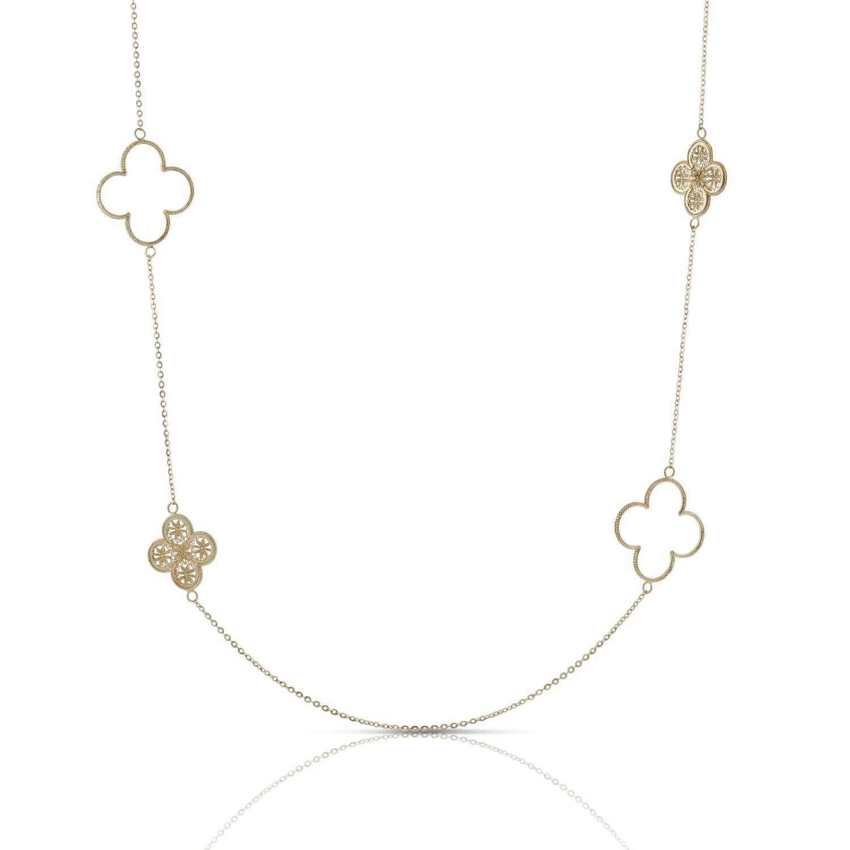 Toscano Clover Station Necklace 18k Ben Bridge Jeweler