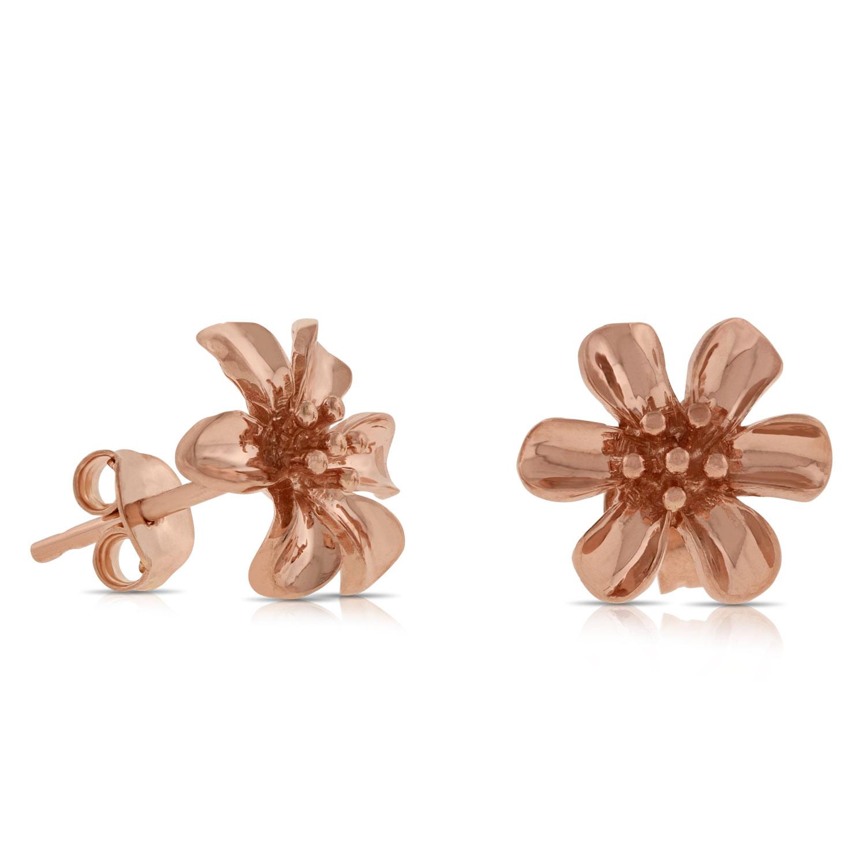 Rose Gold Flower Earrings 14k Ben Bridge Jeweler