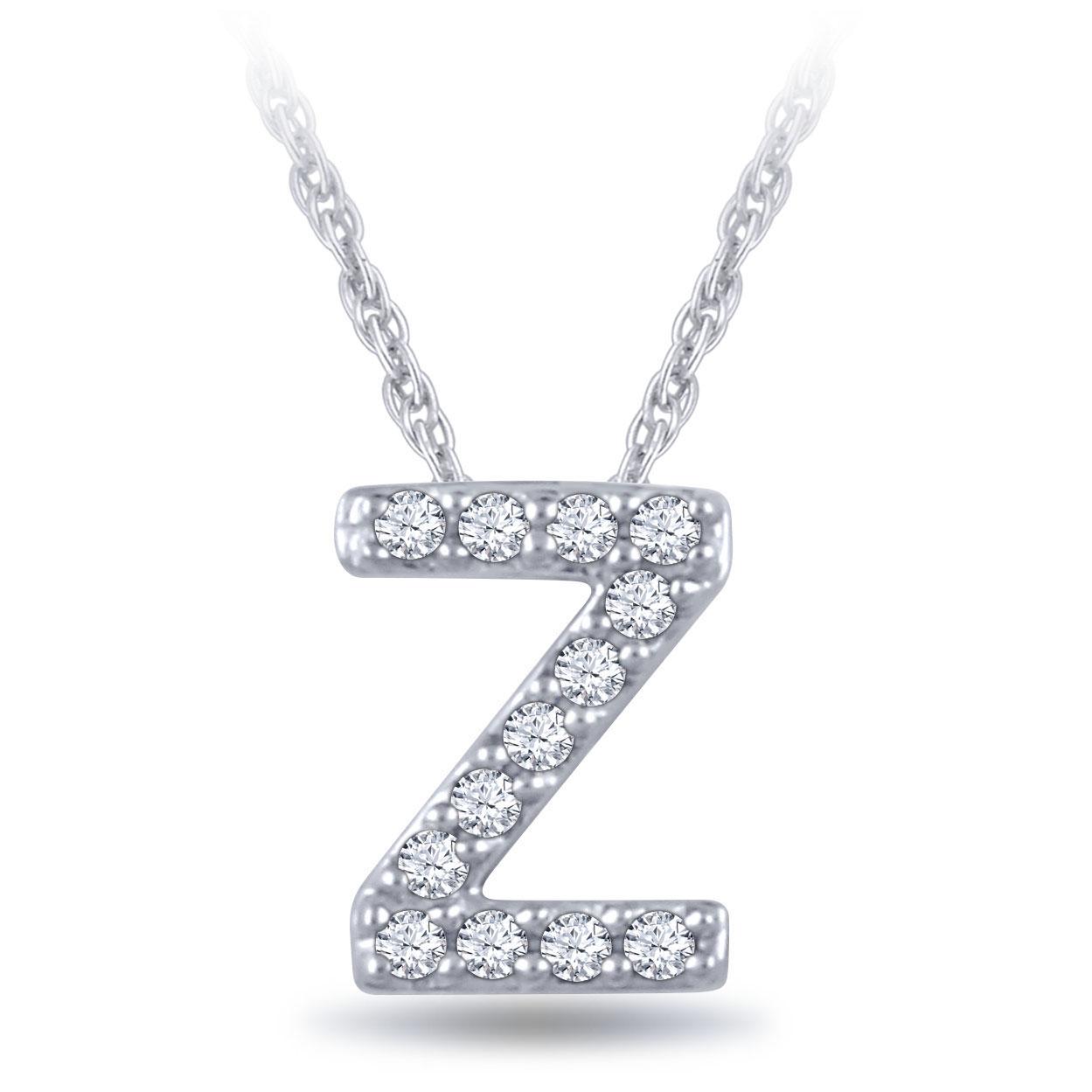 Diamond Initial Pendant 14k Letter Z Ben Bridge Jeweler