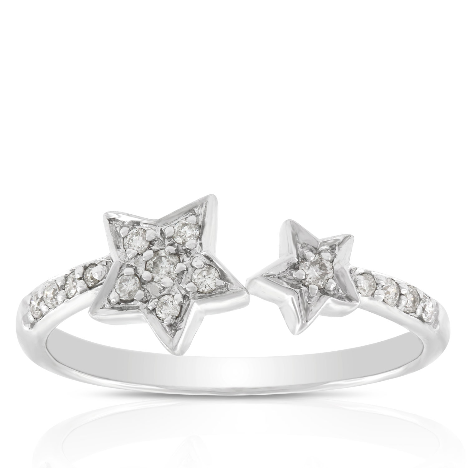 open jewelry bling patriotic st rings cz sterling silver pave ring star