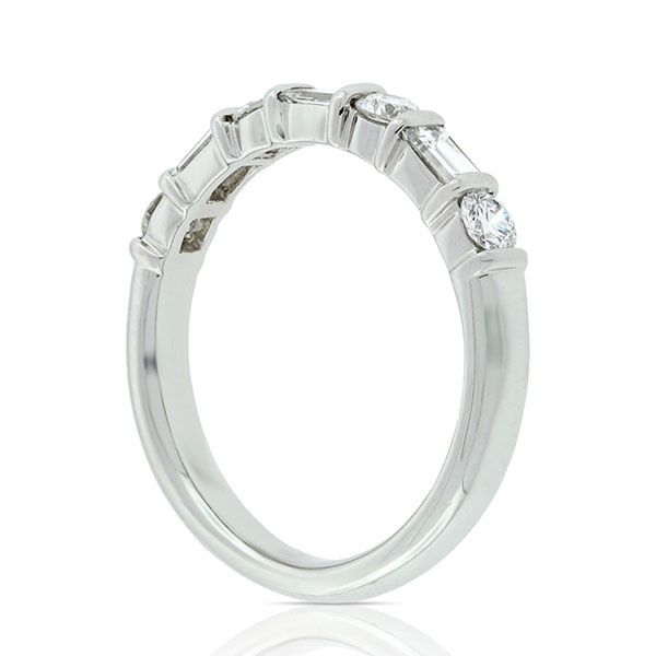 bands heidi baguette platinum diamond band gibson baguetteringonfinger designs eternity