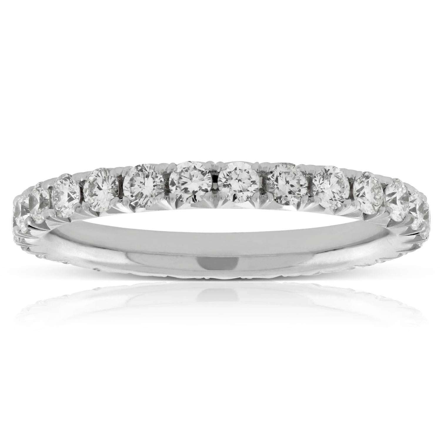 pave sapphire custom bands diamond halo side band eternity
