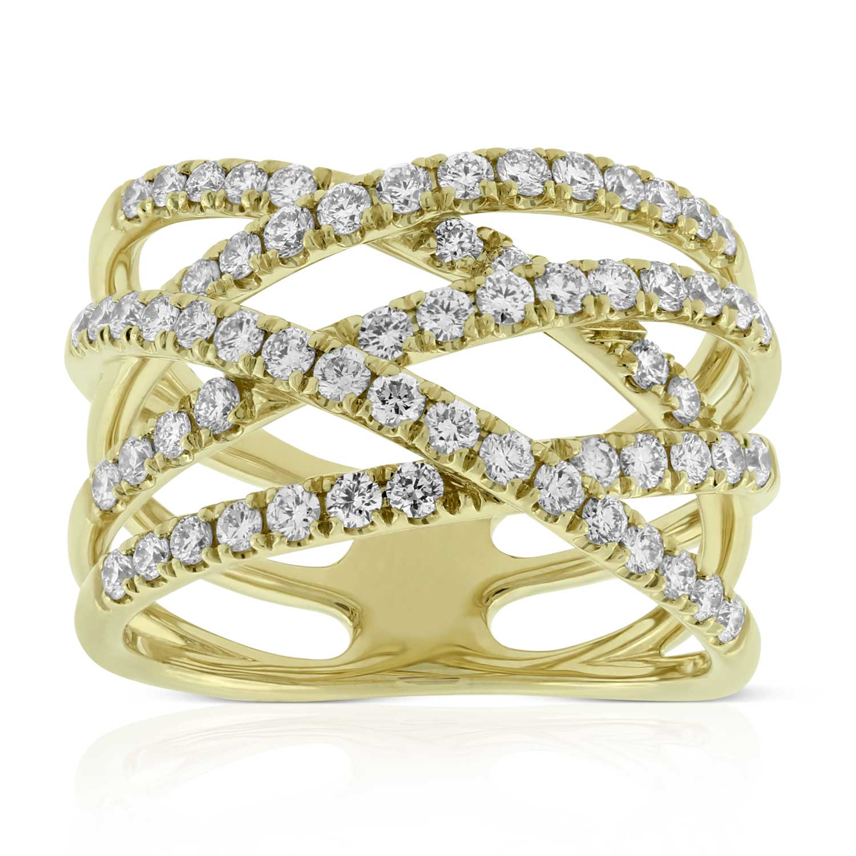 Criss Cross Diamond Band 14k Ben Bridge Jeweler