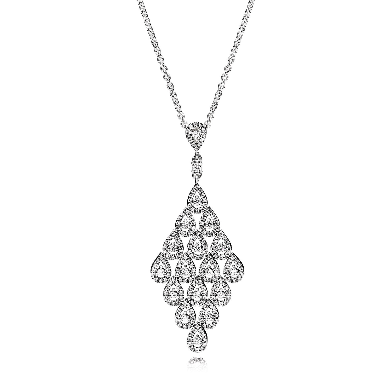 Pandora Cascading Glamour Cz Necklace Amp Pendant 396262cz