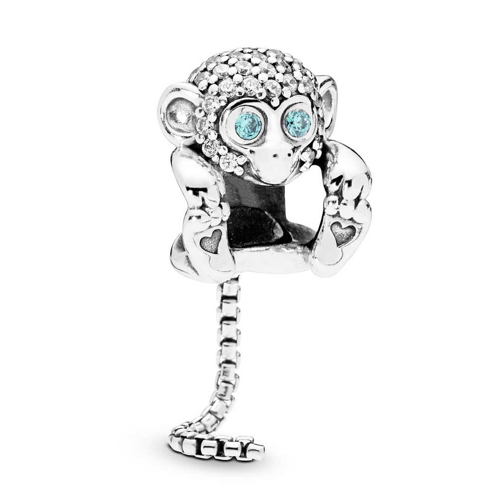 Pandora Sparkling Monkey Cz Charm 798054cz Ben Bridge