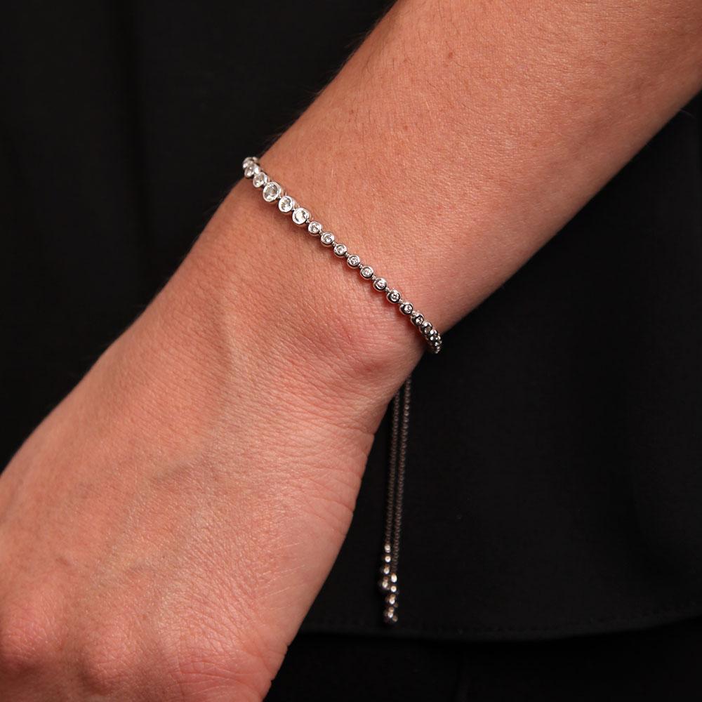 0b4d36e25bc6 Diamond Bolo Bracelet 14k Ben Bridge Jeweler. 10k Yellow Gold Diamond 4mm  One ...