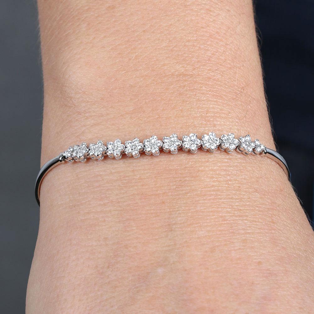 Diamond Flower Bracelet 14k Ben Bridge Jeweler