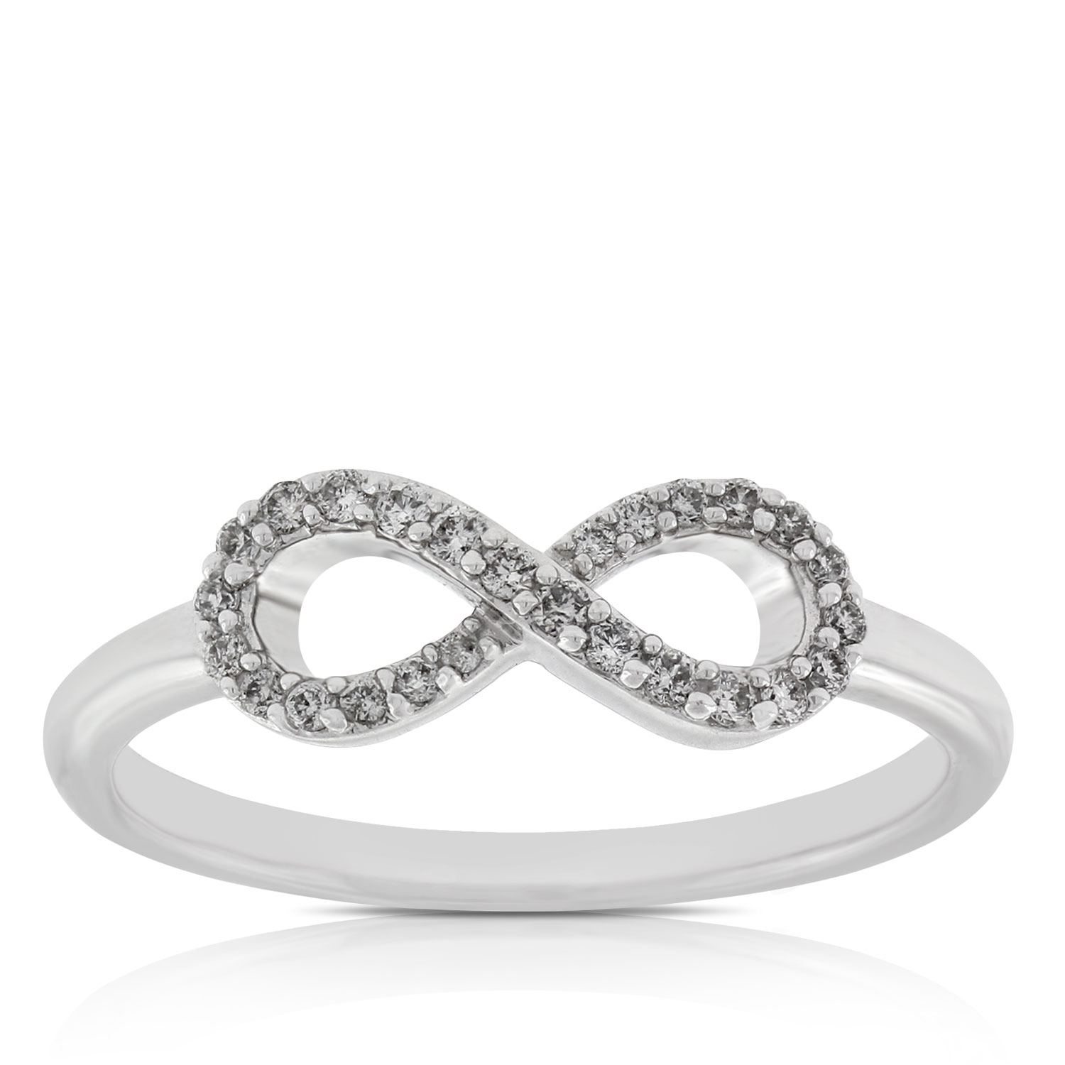in ring products sterling accent engagement infinity triple inset silver diamond rings netaya