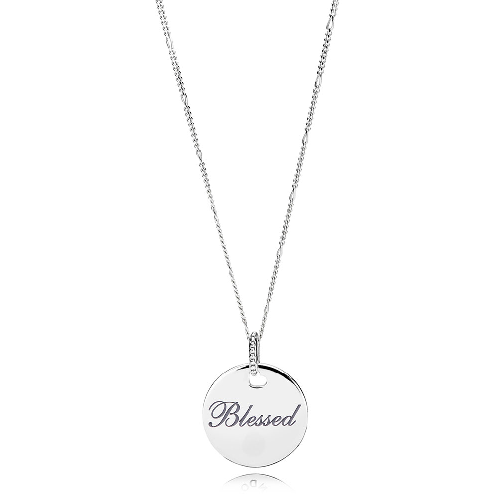 Pandora Blessed Pendant Necklace Eng397122 4 60 Ben Bridge Jeweler