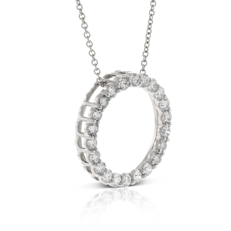 Diamond circle pendant 14k ben bridge jeweler diamond circle pendant 14k aloadofball Images