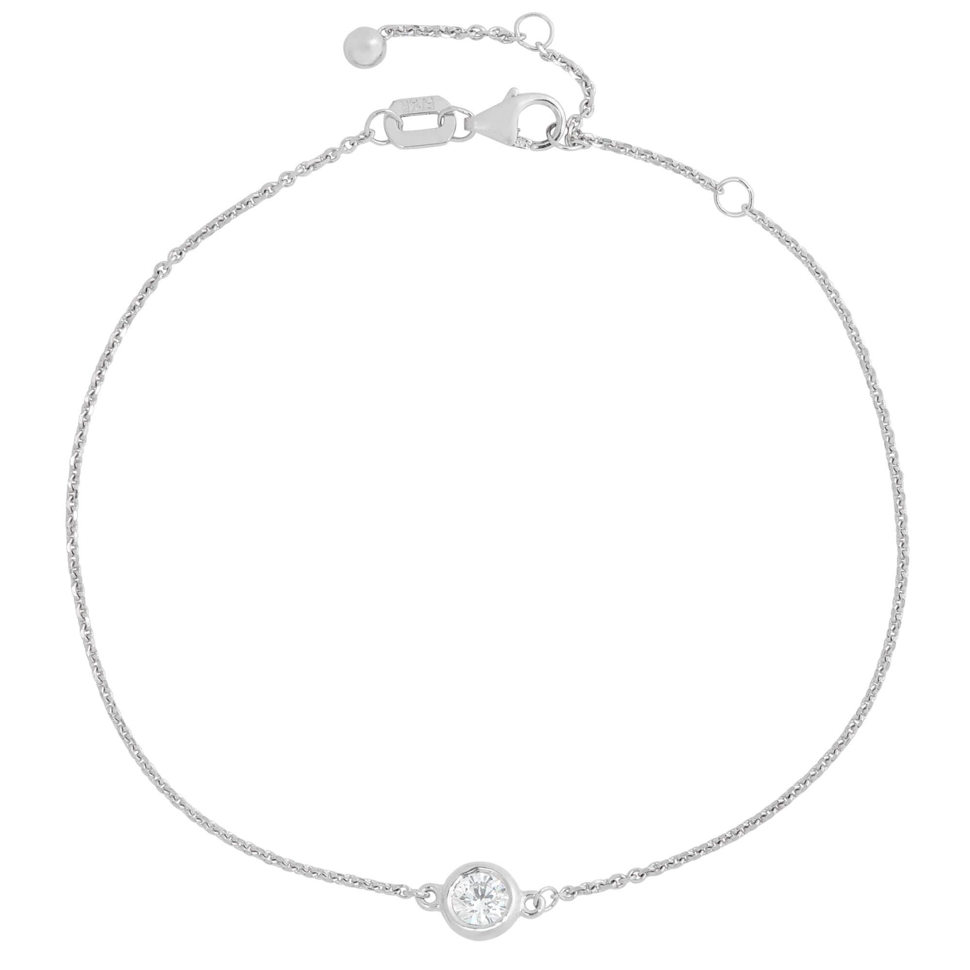 Bezel Set Diamond Bracelet 14k Ben Bridge Jeweler
