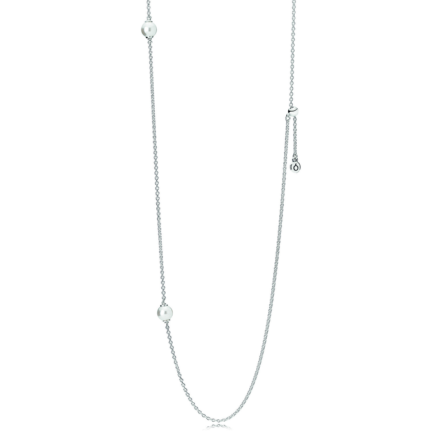 Pandora Luminous Dainty Droplets Crystal Pearl Necklace