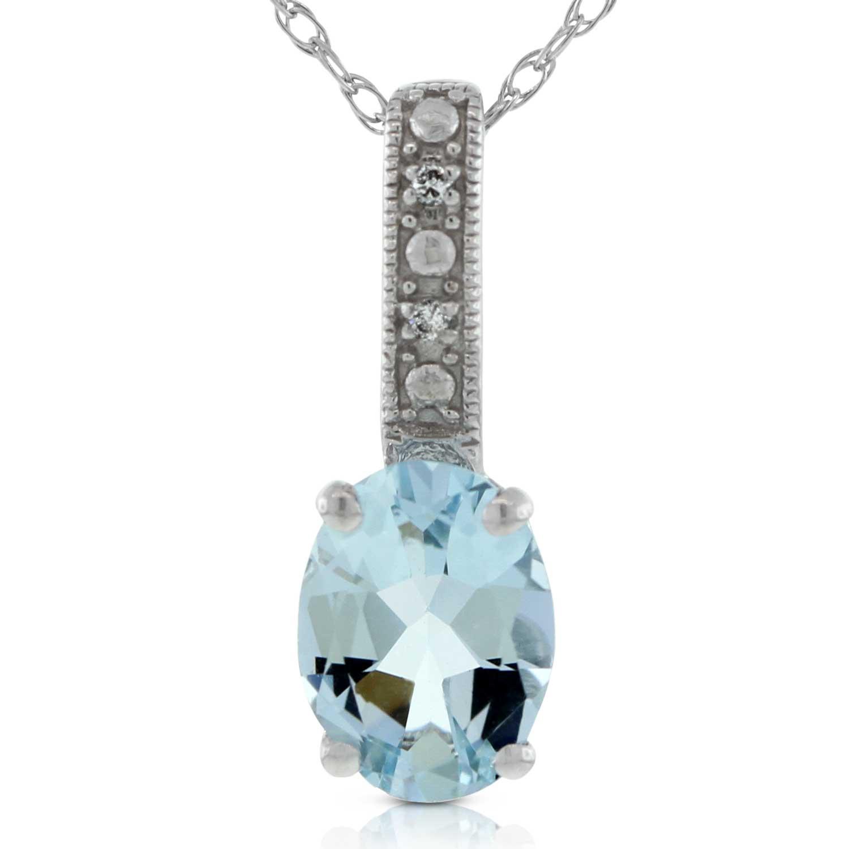 Aquamarine Amp Diamond Pendant 14k Ben Bridge Jeweler