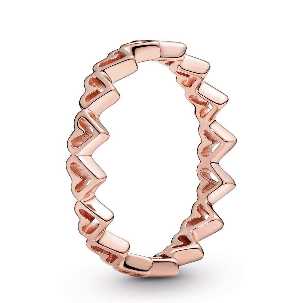 Hearts of love pandora ring