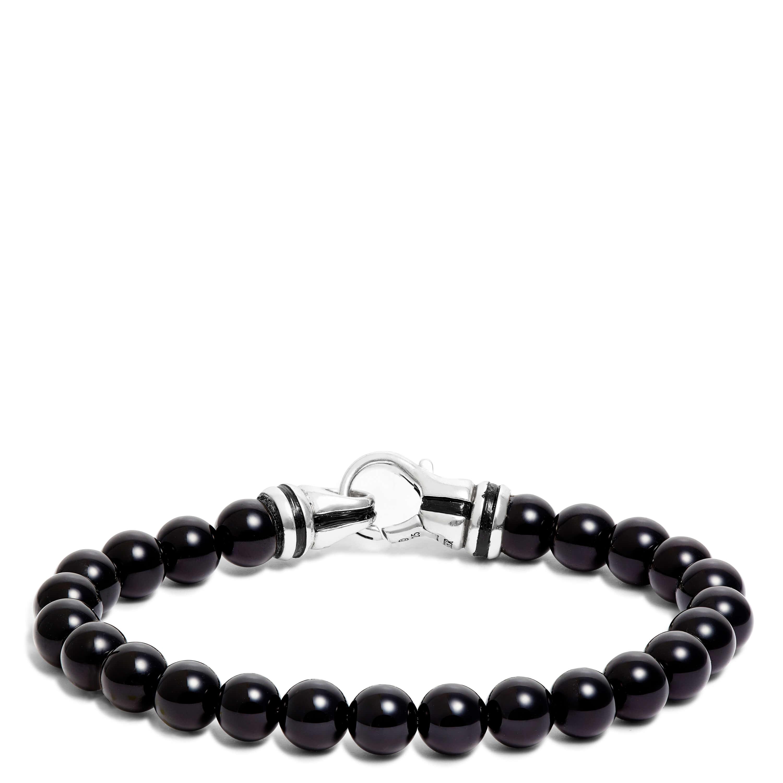 Onyx Men S Bead Bracelet