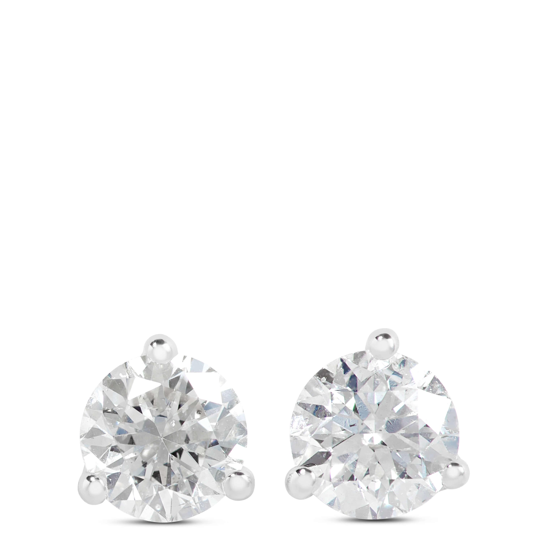 Diamond Solitaire Earrings 14k 1 2 Ctw Ben Bridge Jeweler
