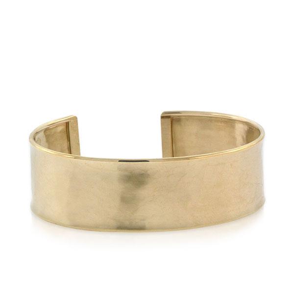 Cuff Bangle Hammared Cuff Bracelet GLD246 5x58mm 24 k Shiny Gold Plated Hammared Bangle