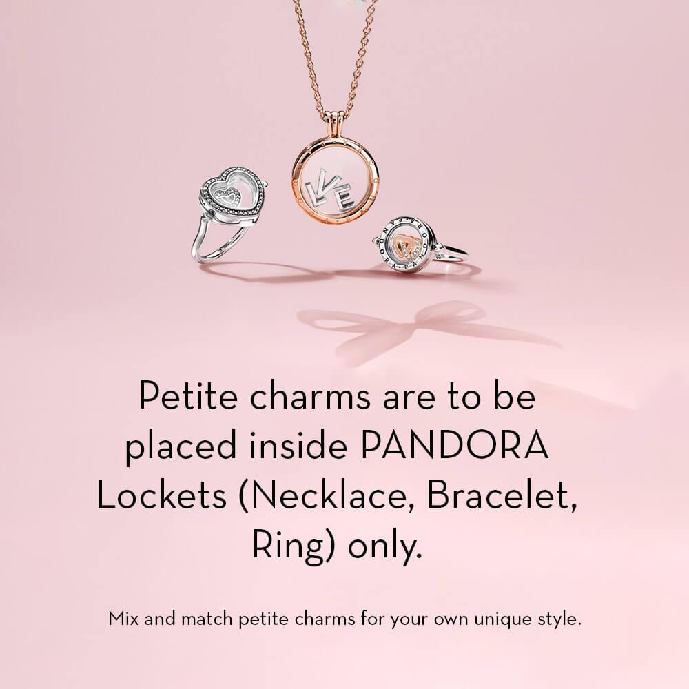 0196dbd64 PANDORA Captured Heart Petite Locket CZ Charm - 792163CZ | Ben ...