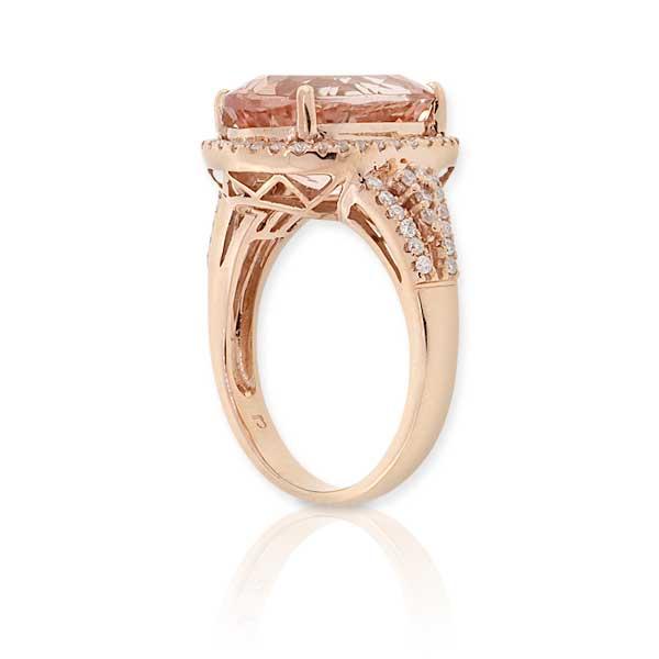 Rose Gold Morganite Diamond Ring 14K Ben Bridge Jeweler