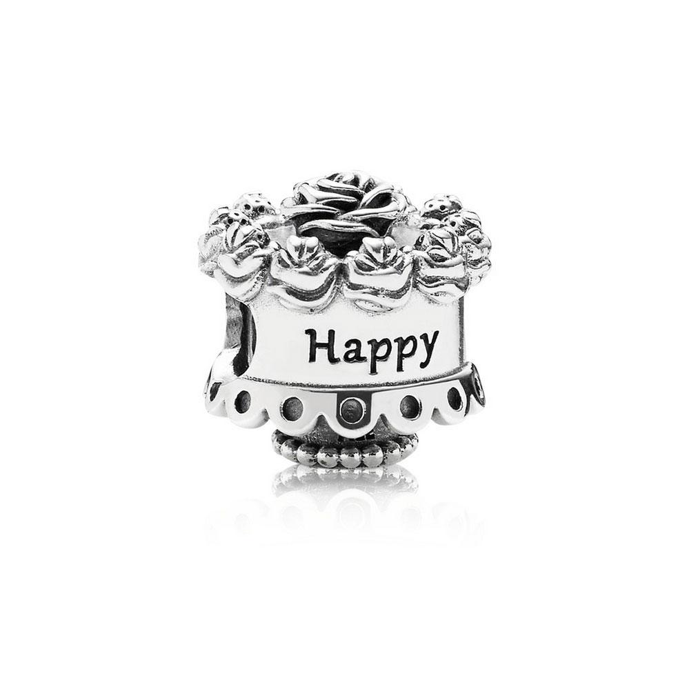 b0d4bf863 PANDORA Happy Birthday Cake Charm - 791289 | Ben Bridge Jeweler