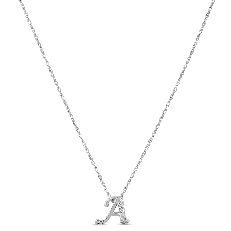 Diamond a initial pendant 14k ben bridge jeweler diamond a initial pendant 14k aloadofball Choice Image