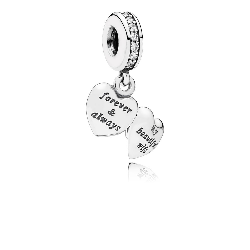 Pandora my beautiful wife charm 791524cz ben bridge for How much does pandora jewelry pay