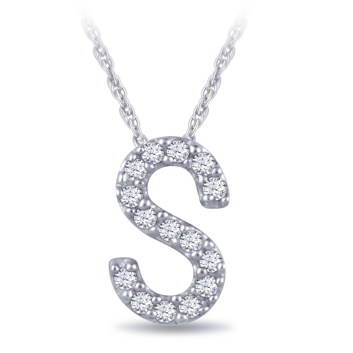Diamond Initial Pendant 14k Letter S Ben Bridge Jeweler