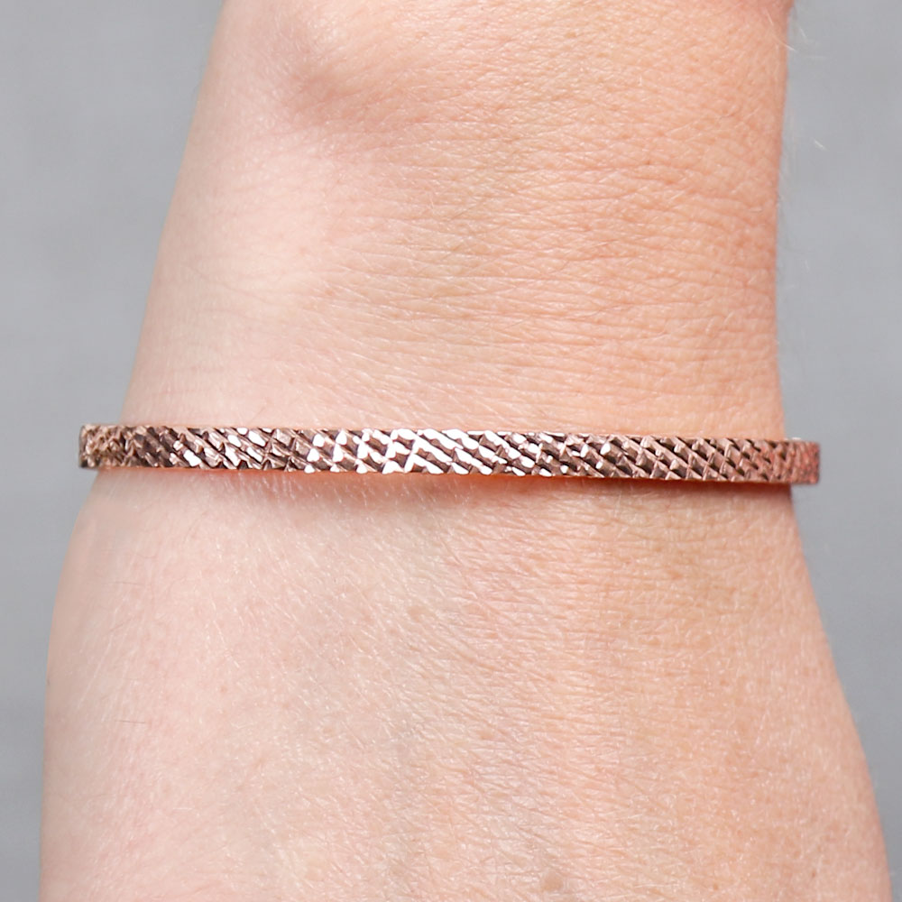 herringbone diamond silver bracelet cut over sterling gold in