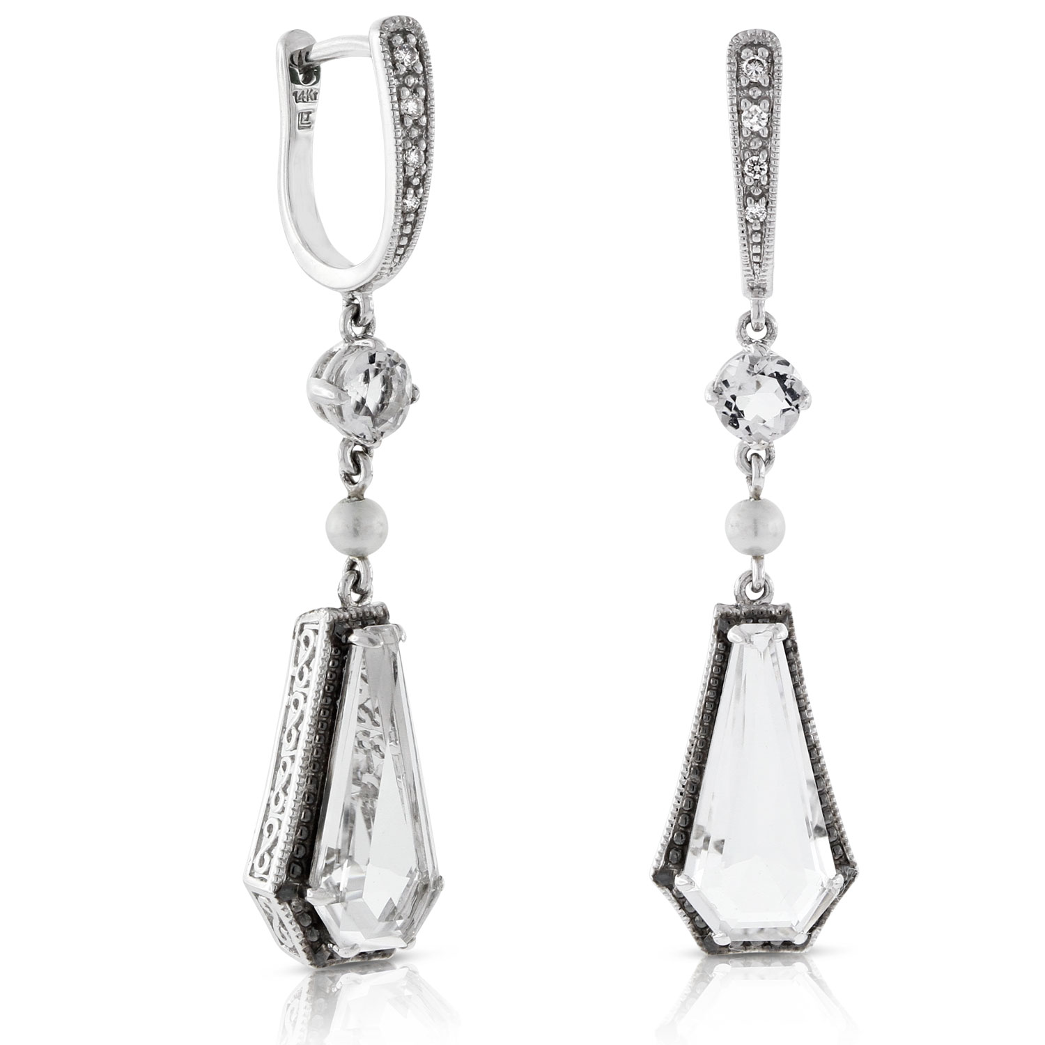 natural gems northumbria white product earrings drop quartz northumbrian